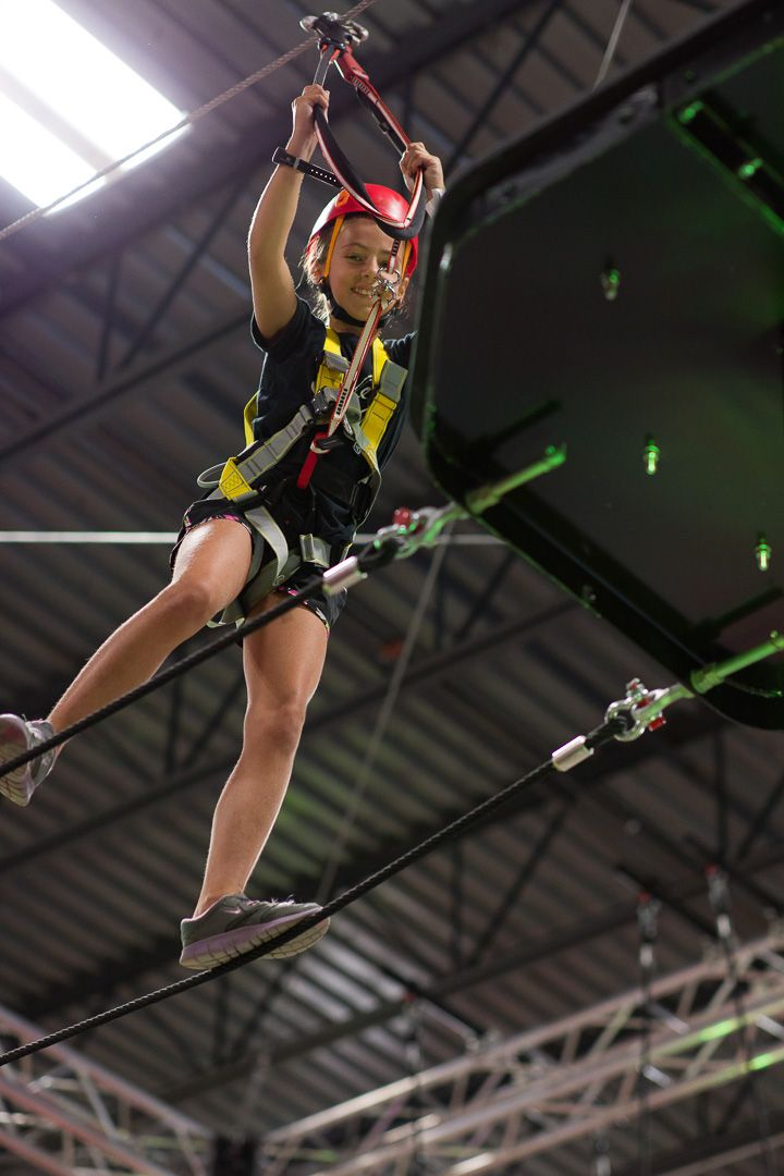The Adrenaline Monkey ropes obstacle